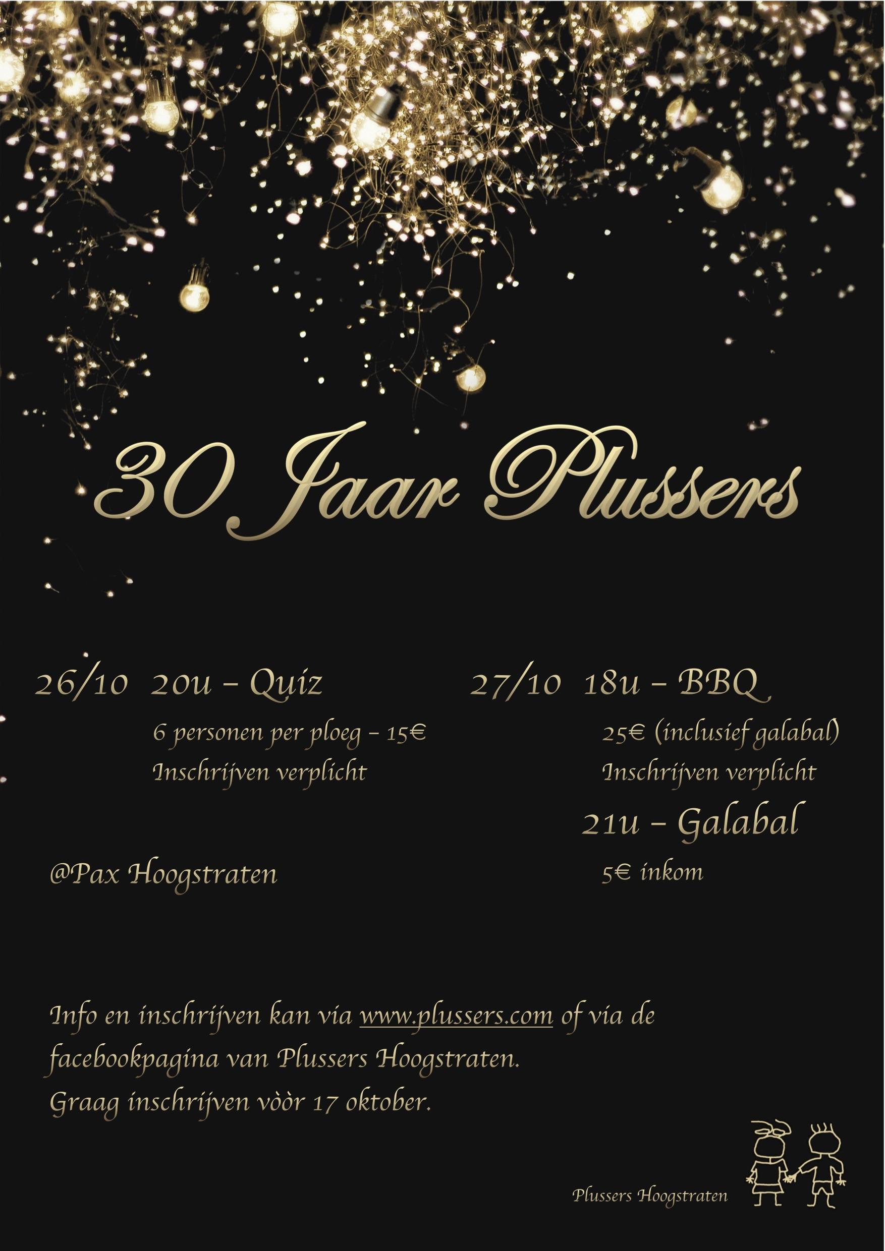30 JAAR PLUSSERS poster
